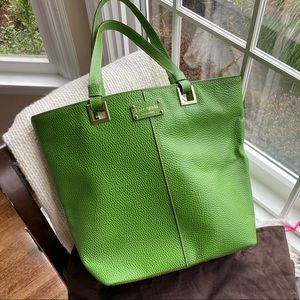 Kate Spade Green Leather Shopper & dustbag NWT